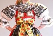 EU CZ Moravia Podhorácké / Podhorácké costumes, which recognizes Kyjovský (Kyjov, Jezov, Vlková), Vracovský (only Vracově, various types), Osvětimansko-Domaninský (around Bzence, Těmice, Osvětimany), Buchlovský (Buchlovicích, Stříbrnicích), Žeravský (only Žeravicích, various types) and Bohuslavický (near Kyjova, was an independent costume type, now distinct) / by P8ronella