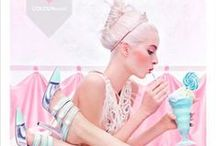 BABY PINK BABY BLUE / Girly Candyfloss baby pale pink contrasting with light sky baby blue in stylish kawaii photos, hair dos, fashion, nail art, jewellery, nature, handbags, food and artwork. Enjoy!