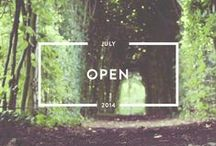 Open - July 2014 / Open your mind, arms, and heart to new things and people, we are united in our differences.  http://www.holstee.com/blogs/mindful-matter