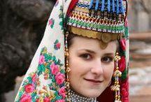 EU BG Pirin Macedonia / Folk costumes of Pirin Macedonian ethnographic region (South-West Bulgaria) / Pirinska Makedoniya (Blagoevgrad oblast) / by P8ronella