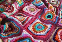 crochet throws / Throws, lapghans, blankets, etc.