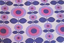 Vintage fabrics - flowers