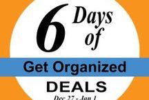 6 Days of Get Organized Deals / Dec 27, 2013 - Jan 1, 2014