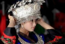 Traditional headdress & costume : Asia