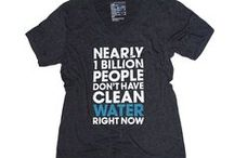 Clean Water / Suds up with soap that builds wells in Haiti. Try on a tee that uses less water to make it than normal shirt production. These products give back, by donating to water charities, organizing waterway cleanups, and more.