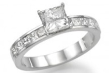 Princess Cut Engagement Rings / Princess Cut Engagement Rings - This board is dedicated to our line of princess cut diamond engagement rings, which is one of the most popular cut shape for diamonds, next to a round shape diamond.