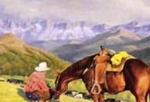 Western Art - Cowboys & Mountain Men / by Debbie Clausen