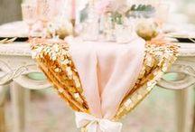 Blushing Pink / Colour mood board, blush, pinks, golds.