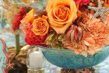 Orange wedding inspo. / Inspiring images in shades of orange and other bright fruity shades.