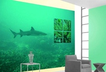 Photo and 3D Wallpapers / Can you imagine seeing a natural-size shark in your living room? Or a beautiful set of autumn leaves falling down on you in your bedroom? With photo wallpapers this is possible. And then add a 3D wallpaper in your living room to make it look like it was just delivered from the 15th century.