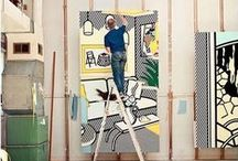 Bulles Concept / Artist - Roy Lichtenstein Interiors / One of the greatest Artist who has done great series about architecture, interiors, 3D..