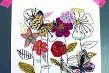 Embroidery_Kirjontaa käsin ja koneella