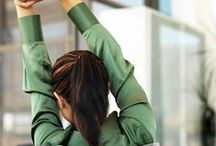 Deskercise / If you are working longer hours this tips will help you to stay fit and fresh throughout the work day.
