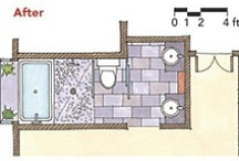 Rred hoffstadt ritamh420 on pinterest for 7x11 bathroom layouts