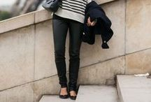 Travelista:Flats for Travel / Stylish travel outfit ideas with flats.