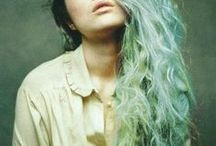 Green Hair / The most beautiful green dyed hairstyles