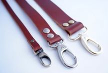 Maroon brown leather straps / Δερμάτινα Λουριά για τσάντες σε ανοιχτό καφέ / Leather Straps / Leather Handles for craft, sewing and knitting projects. Δερμάτινα λουριά για να δημιουργήσετε τις δικές σας τσάντες και αξεσουάρ. http://bit.ly/2d4TepW