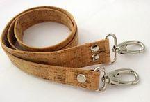 Natural Cork straps/ handles for bags/ Λουριά για τσάντες απο φελλό