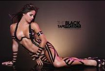 The Black Tape Project / The Black Tape Project - sexy girl artistically dressed in black tape
