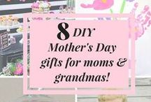 DIY Mother's Day Gifts / Mother's Day is right around the corner! Give your mom or grandma a meaningful gift without breaking the bank. Here's our list of favorite do-it-yourself Mother's Day gift ideas.