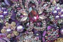 Amethysts my birthstone / A color of calm and healing....so pretty.