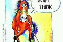 Horse Cartoons & Fun Photos / Having a joke with horse themes