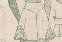Vintage: Sewing patterns / Nostalgic vintage sewing patterns