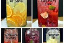 Tee und Sommerdrinks