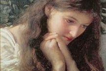 PRERAPHAELITI-1 dgr-whh-h2-em--ae- / D.G.Rossetti-W.H.Hunt-2Hughes-E.Millet-A.Elmore- / by Chrissy Love