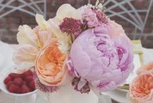 Wedding purple + peach