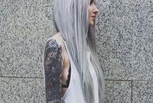 hair // grey&silver&granny / Hair appreciation for those with grey/silver/'granny' hair, be it natural or dyed.
