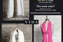 VIDA VOICES COLLECTION by AmaSilyS... / Beautiful and luxurious silk scarves, tote bags, accent pillows... with my designs and a selection of my artworks... the perfect gift for a loved one or a special treat for yourself. These beautiful pieces of fashion will elevate any outfit, day or night!!! http://shopvida.com/collections/voices/amasilys