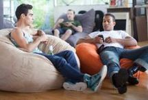 Jaxx Bean Bags / Filled with upcycled foam and fun.