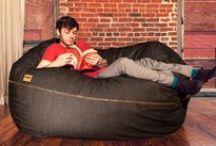 Denim Bean Bags / It's like sitting in your favorite pair of jeans.