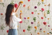 Flora and Fauna / Flowers brighten everything up. Find them on textiles, prints, clothing and of course in the garden!