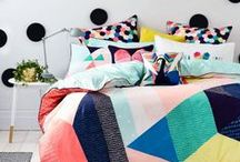 Quilt Inspiration / If you want to jazz up your bedroom the first place to start is your bed. Throw a colourful handmade quilt over it and watch how the room changes from drab to fab!