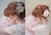 Ginger wedding hair styles / I have medium length ginger hair with a fringe currently. I have no idea what I'm going to do with it on the day but I have a headband that goes with my dress.