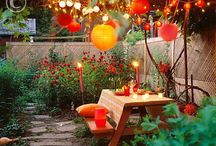 Garden party / Inspiration board graden party, tuinfeest
