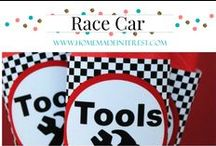Party- Race Car / Race Car theme party food & decorations. Lots for checkerboard.