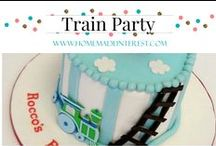 Party- All Aboard Choo Choo Train Party / Decoration and food ideas for a train themed birthday party
