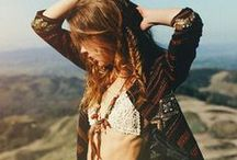 BOHEMIAN / Boho chic style consisting of cosmic gypsy, nomadic lifestyle, exotic locations and indigenous textiles.