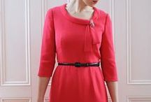 Joan Dress Sewing Pattern / The latest sewing pattern from Sew Over It, the Joan Dress is a vintage inspired beauty. Based on the style of Mad Men icon Joan Holloway, with its fitted design and 60's collar detail, the Joan Dress will get you feeling sassy and confident like the lady herself