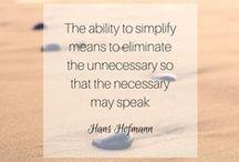 Inspiration   Simplify / Towards simplicity...