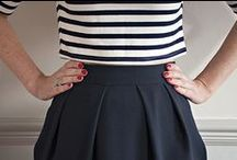Tulip Skirt Sewing Pattern / The NEW Tulip Skirt sewing pattern from Sew Over It! Super versatile, the Tulip Skirt is a true wardrobe must-have. A classic tulip shape, it's one of Lisa's favourite silhouettes. Get your pattern here: http://shop.sewoverit.co.uk/products/tulip-skirt-pdf-sewing-pattern