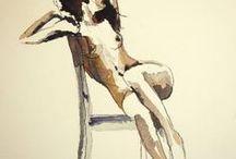 Figural, portrait, nude