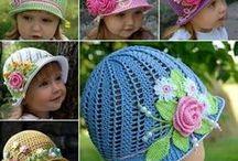 Dziecko, ubranka na szydełku / Szydełkowe sukienki, czapeczki, buciki dla najmłodszych