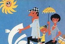 50s & 60s comic illustration design