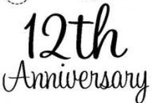 12th Anniversary Gift Ideas / Traditional 12th Anniversary Gifts are SILK / LINEN.  Modern 12th Anniversary Gifts are PEARLS.  12th Anniversary Flower - PEONY.  12th Anniversary Gemstone - JADE.