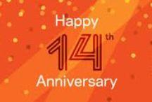 14th Anniversary Gift Ideas / Traditional 14th Anniversary Gifts are IVORY.  Modern 14th Anniversary Gifts are GOLD JEWELRY.  14th Anniversary Flower - ORCHID.  14th Anniversary Gemstone - OPAL.