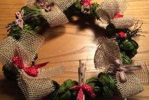 Christmas, Natale, Corona, burlap winter, ghirlanda,